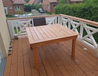 Holztisch Terassentisch Gartentisch Selber Bauen Aus Douglasie