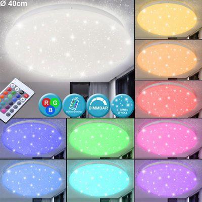 Details zu RGB LED Deckenlampe Schlafzimmer Fernbedienung Sternenhimmel Dimmer Beleuchtung