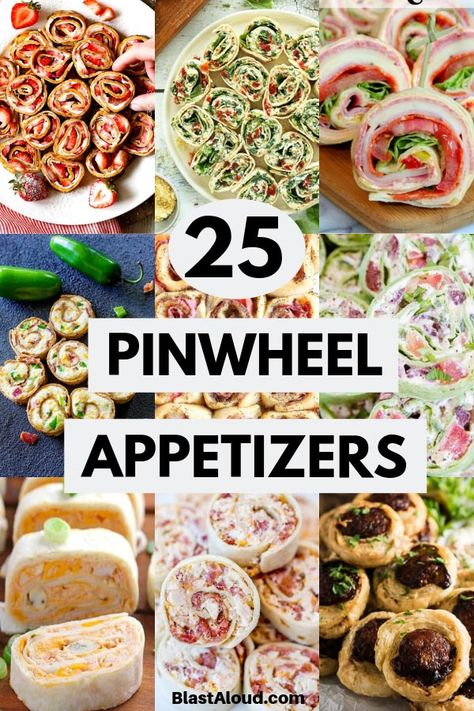 25 Pinwheel Appetizers For Game Day: Pinwheel Roll Ups Be the star at your next gathering with these delicicous pinwheel appetizers! These pinwheel roll ups are a real crowd pleaser – perfect for game day! - Everything About Appetizers Appetizers For A Crowd, Finger Food Appetizers, Food For A Crowd, Appetizer Recipes, Italian Appetizers, Make Ahead Cold Appetizers, Sandwich Appetizers, Birthday Appetizers, Cocktail Party Appetizers