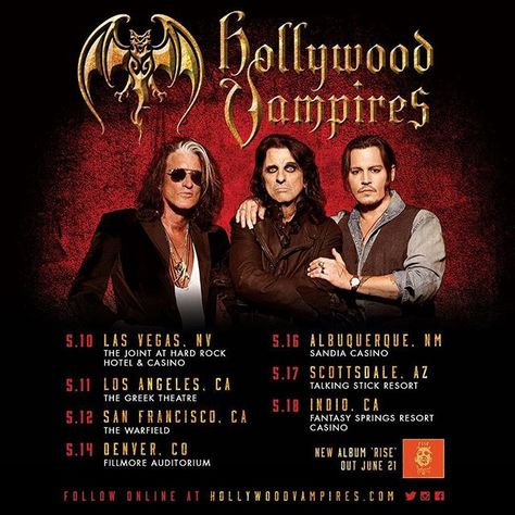 Instagram The Hollywood Vampires Hollywood Vampire Band