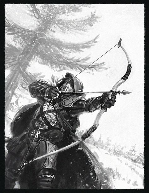 Male archer ranger bow | NOT OUR ART - Please click artwork for source | WRITING INSPIRATION for Dungeons and Dragons DND Pathfinder PFRPG Warhammer 40k Star Wars Shadowrun Call of Cthulhu and other d20 roleplaying fantasy science fiction scifi horror location equipment monster character game design | Create your own RPG Books w/ www.rpgbard.com
