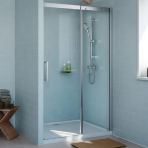 Cooke Lewis Carmony Shower Door With Single Sliding Soft Close Door W 1200mm Shower Doors Soft Close Doors Shower