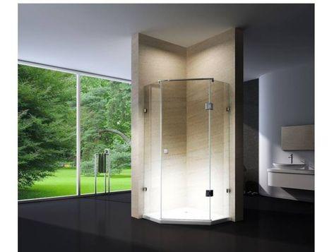 Badezimmer Wc Dusche Und Badewanne Duschturen Und Duschwande Duschabtrennungen Duschturen Bernstein Auf Einen In 2020 Duschkabine Eckduschen Dusche