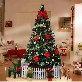 2 1m Christmas Tree Plus Decoration Set For Shopping Mall Christmas Tree Lighted Ornaments Christmas Tree Decorations