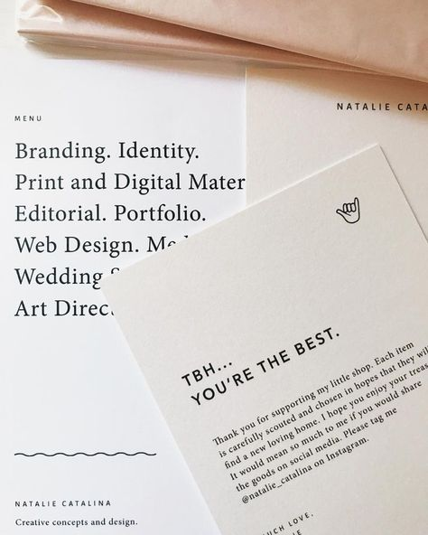 Modern Graphic Design And Print For A Business Thank You