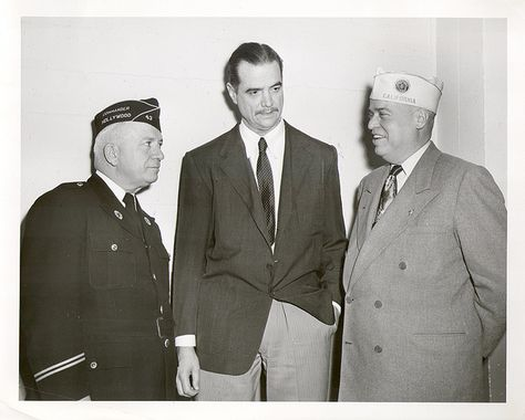 Howard Hughes with American Legion Commanders