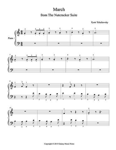 March | Piano solo sheet music from orchestral music