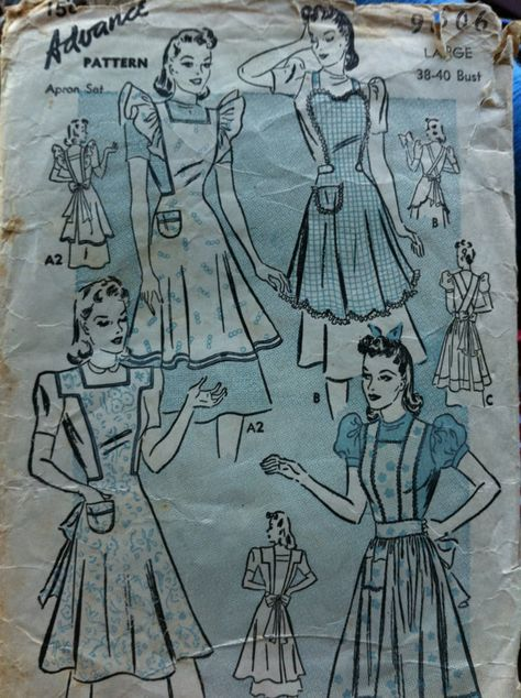 Forties Vintage Sewing Pattern: 40s -Advance Pattern No
