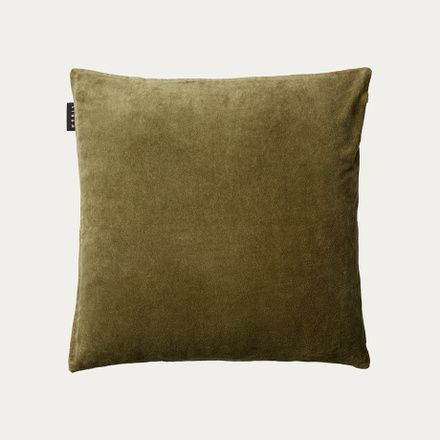 Linum Cuscini.Paolo Cushion Cover Golden Olive Green Green Cushion Covers