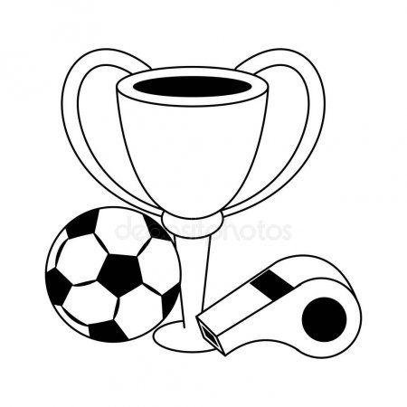 Soccer Football Sport Game Cartoon In Black And White Stock Vector Affiliate Sport Game Soccer Football Ad Sports Games Competition Games Soccer