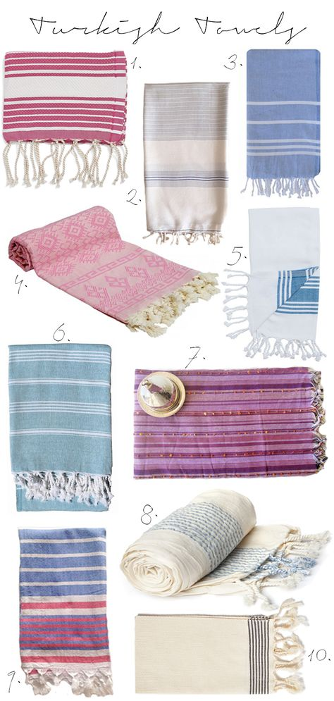 My love for Turkish towels has no end...our next apartment will be worthy / Turkish Towel Round-Up #turkishtowel #KCD