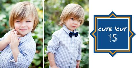 This is actually pretty much what Sam's hair looks like now... so maybe I should just maybe turn him into a baby model by getting him a bow tie? ;)