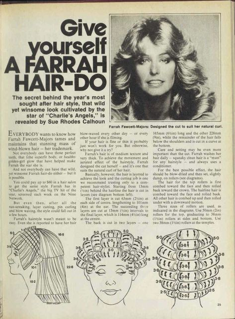 Vintage Hairstyles Curls Issue: 11 May 1977 - The Australian Women's Wee. 1970s Hairstyles, Messy Bun Hairstyles, Vintage Hairstyles, Girl Hairstyles, Roller Set Hairstyles, Wedding Hairstyles, Homecoming Hairstyles, Party Hairstyles, Headband Hairstyles