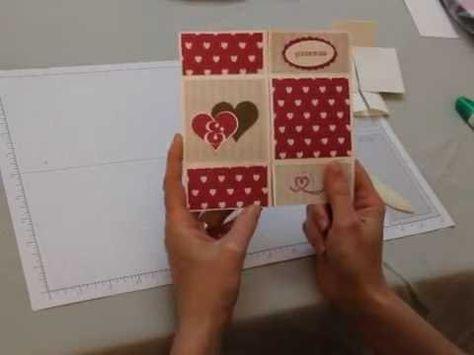 Carte Asymetrique Stampin Up Tuto En Francais Youtube Carte Anniversaire Scrap Scrapbooking Idees Carte Carte Scrapbooking