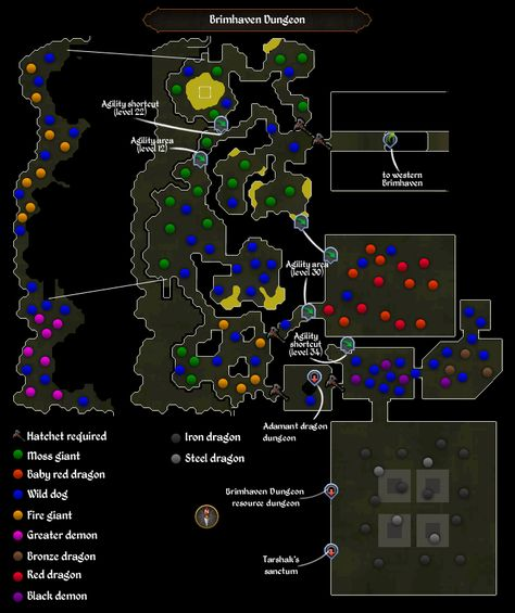 Edgeville Dungeon - new osrs world map in game