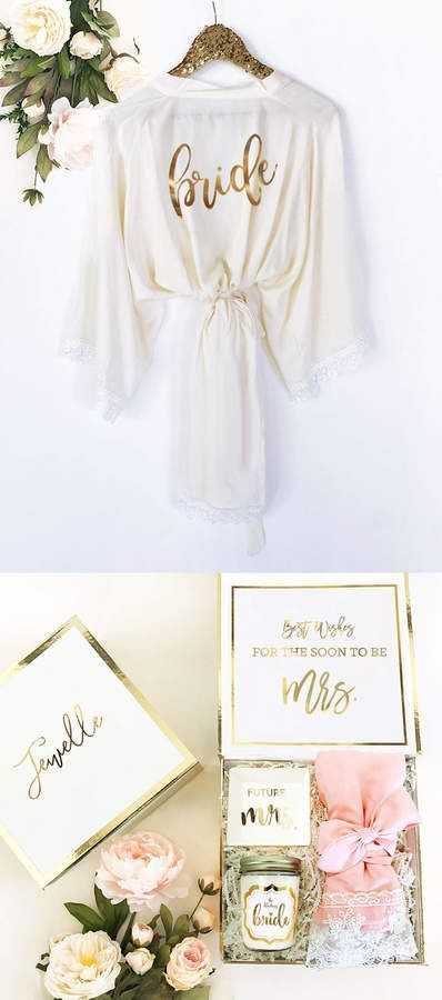 Etsy Bride Robe Lace Cotton Bride Gift Bride To Be Gift