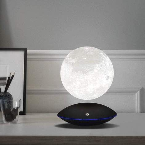 Magnetic Levitating 3d Printed Moon Lamp In 2020 Lamp Night Light Lamp Glass Ceiling Lamps
