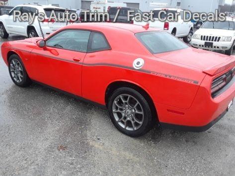 side of orange Side Body Stripes for Dodge Challenger SXT Graphics 2019