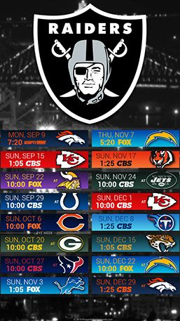 Oakland Raiders 2019 Mobile City Nfl Schedule Wallpaper Oakland Raiders Raiders Wallpaper Raiders