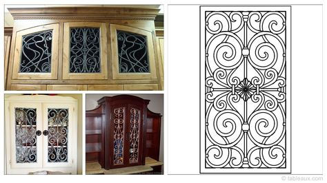 Tableaux Faux Iron Cabinet Door Inserts Are Sustainable Wooden Fixtures That Look Like Genuine Wrought These Easy To Install Eco Friendly
