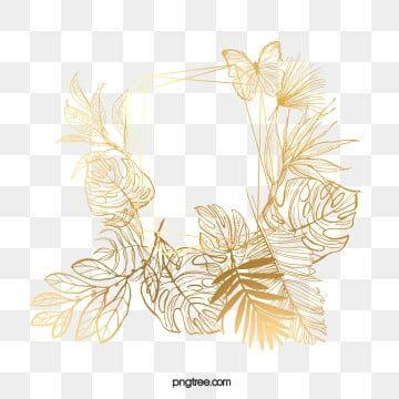 Bordure De Feuille D Or Element De Feuille D Or Plante Feuille Cadre Fichier Png Et Psd Pour Le Telechargement Libre Flower Border Leaf Clipart Leaf Border