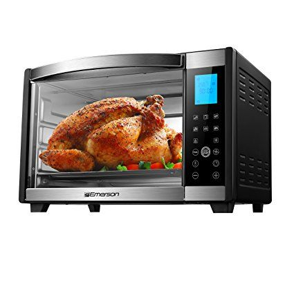 Emerson Convection Rotisserie Countertop Toaster Oven 6 Slice Stainless Steel Digital Touch C Countertop Toaster Oven Toaster Oven Convection Toaster Oven
