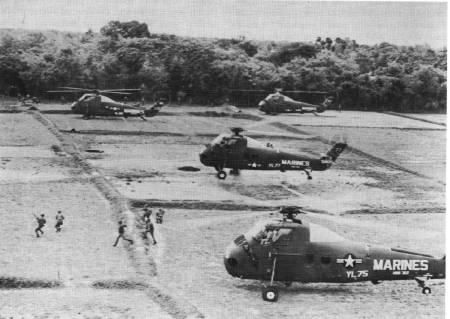 December 8-20, 1965     Three US Marine battalions (2/1, 3/3, 2/7), from the US III Marine Amphibious Force units and the fleet's ARG/SLF, and three South Vietnamese battalions (1/5, 1/6, 11th Rgr) begin Operation Harvest Moon/Lien Ket 18, aimed at the 1st Viet Cong Regiment, which is again up to strength and located in the hills west of Tam Ky. Results: VC: 407 KIA; 33 prisoners; over 100 weapons and 60 tons of ammo capture. Allied: US Marines: 45 KIA, 218 WIA; South Vietnamese: 181 KIA or