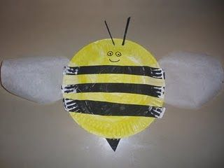 paper plate bumble bee.  Buzz Buzz
