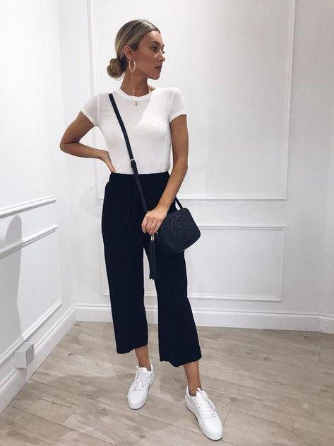 Pretty Lavish – Black Frill Hem High Waisted Trousers - #Black #Frill #Hem #high #Lavish #Pretty #Trousers #Waisted