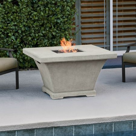 Outdoor Greatroom Naples Chat Height Gas Fire Pit Coffee Table Collection Monaco Square Gas F In 2020 Fire Table Outdoor Fire Pit Table Fire Pit Table
