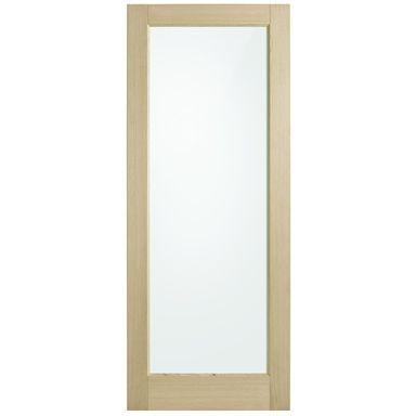 Corinthian Doors 720 X 2340 X 40mm Blonde Oak Awo 21 Clear Glass Entrance Door Corinthian Doors 720 X 2340 X 40mm Blonde Oak Awo 21 Clear Glass Entrance Door In 2020
