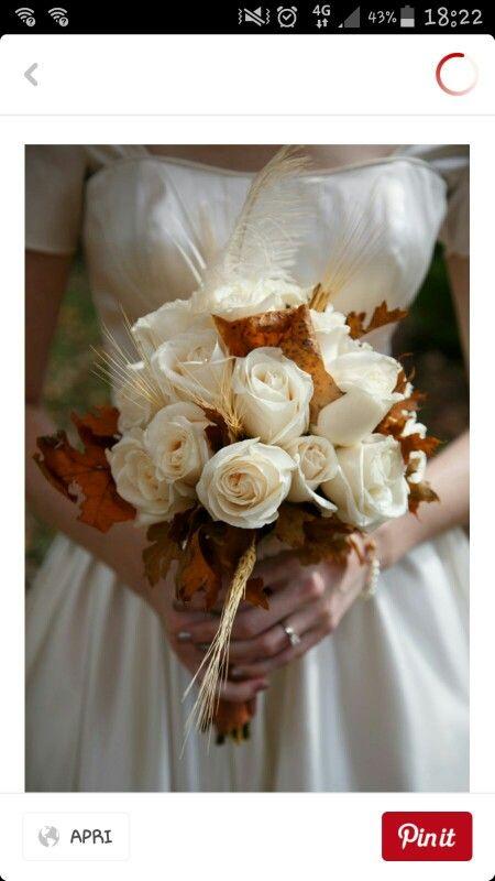 Fiori Bianchi Ad Ottobre.Sposa 30 Ottobre Bouquet Matrimonio Colori Matrimonio Autunno