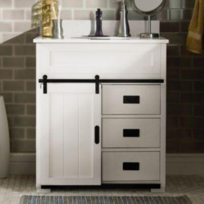 23+ White bathroom cabinet door type
