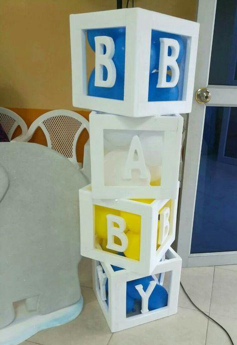 Cubos Para Baby Shower Optimus Decoracion Decoraciones De