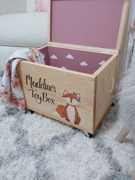 Sweet baby fox, roses, polka dots clouds caster wheels, & dusty rose! Soo much gorgeous for one box!!!