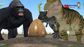 animation funny short movies for nursery children. Dinosaurs vs gorilla and Dragons vs Pirates Short movies. Animals Cartoon for babies. This short mov.