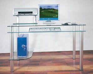 Doynton Keyboard Tray Desk Glass Computer Desks Chic Computer Desk Computer Desk