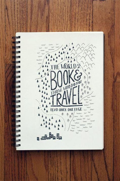 """The world is a book & those who do not travel read only one page."""