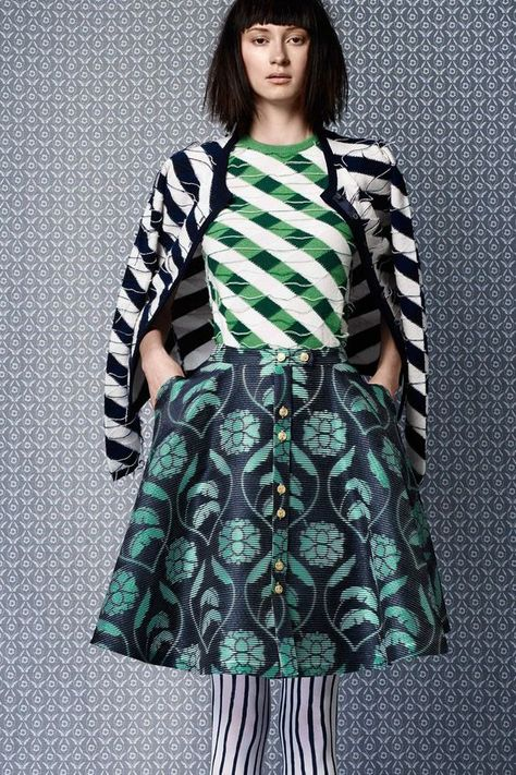 pattern & print mix in blue and turquoise Fashion + Photography Photo: Thom Browne