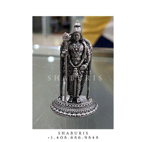 Pure Silver Lord idol,Lord Idol silver,Indian Pooja Articles,silver articles indian,pooja samagri,Antique silver articles,God idol