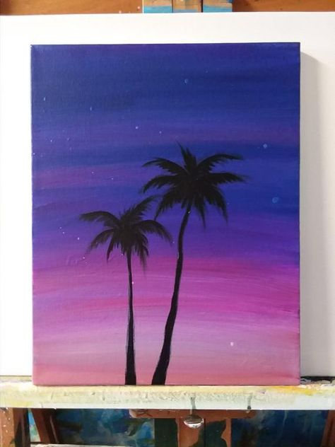 Sunset Palm Tree Painting – Everything for Nature