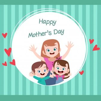 Mothers Day Card Greeting Vector Illustration Cute Clipart Vector Illustration Happy Mothers Day
