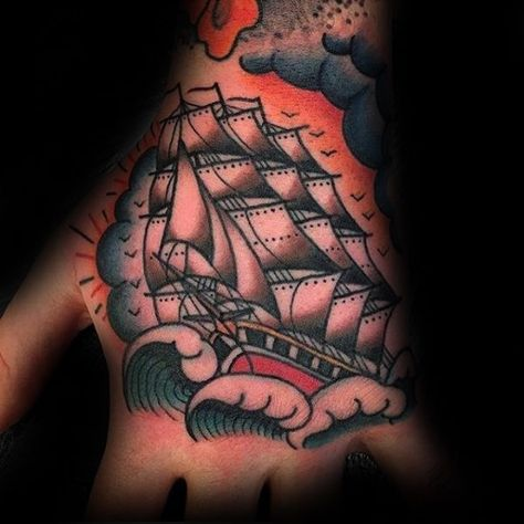60 Traditional Ship Tattoo Designs For Men - Nautical Ink Ideas