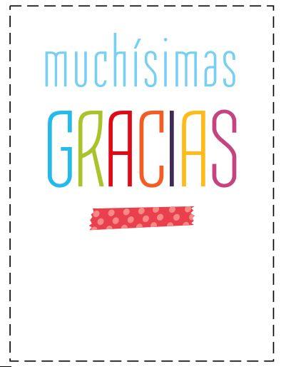 Tarjetas para dar las gracias Aleatorio!! Thank you qoutes, Give