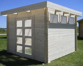 Pre Made Guest House Storage Shed Office Space Pool House Etsy Modern Shed Garden Cabins Storage Shed Kits
