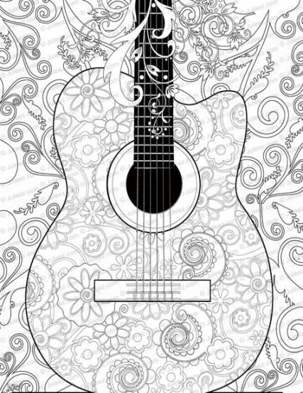 50 Trendy Music Drawings Guitar Coloring Pages Music Coloring Coloring Pages Unique Drawings