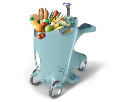 Short Distance Travel Shopping Cart Design by Flora Zhu and Mei Chai