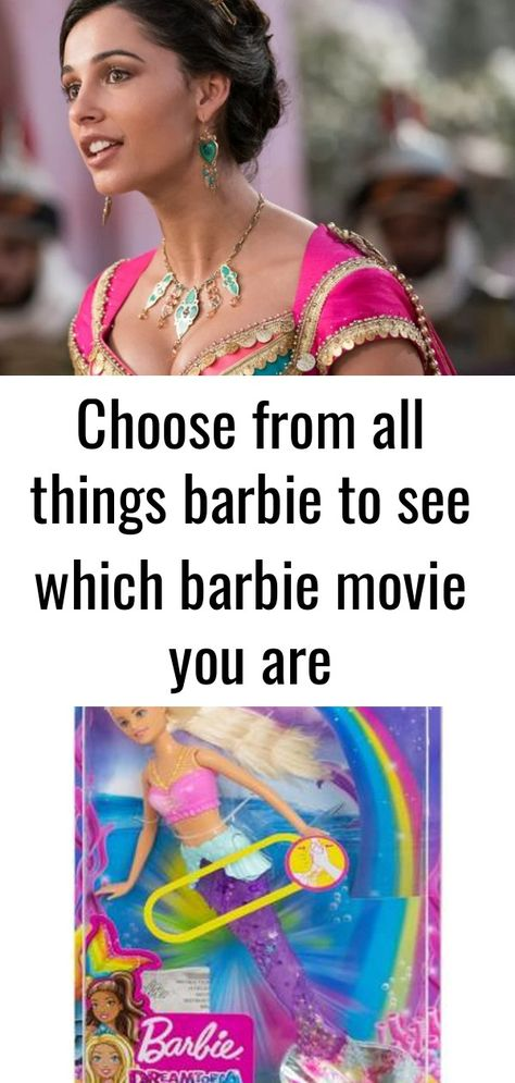 Choose from all things barbie to see which barbie movie you are