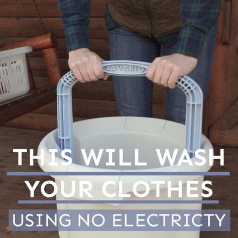 Clean your clothes without electricity in less than 20 minutes!  As an Amazon Associate, we earn from qualifying purchases (at no cost to you).