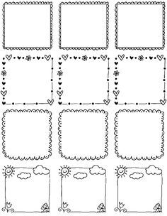 Printable doodle borders labels by inktreepress worldlabel blog also hand drawn frames to scrapbooking pinterest doodles rh in